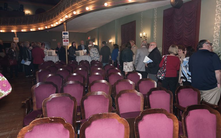 View of a group of attendees at the Thomaston Opera House for the 2017 TSB Foundation Night